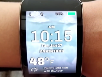 Samsung Gear watch weather